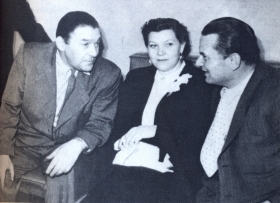 L. Utesov, V. Coralli, K. Shulzhenko. The photo. (Л. Утесов, В. Коралли, К. Шульженко. Фотография.) (Belyaev)