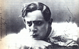 "N. Bravin in the operetta ""Love is fool"". The photo. (Николай Михайлович Бравин в оперетте ""Любовь шута"". Фотография.) (Belyaev)"