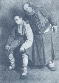 "N.K. Pechkovsky and P.M. Zhuravlenko. ""Boris Godunov"". The photo. (Н.К. Печковский и П.М. Журавленко. ""Борис Годунов"". Фотография.) (Belyaev)"